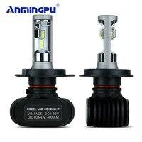 ANMINGPU 2pcs Headlight Bulbs Car Led H4 Headlight 12V 24V 8000LM Pair 50W Lampada Led H4