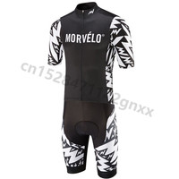 Morvelo Men Pro Team Triathlon Cycling Clothing Skinsuit Jumpsuit Maillot Cycling Jersey Set Ropa Ciclismo Bike Sports Clothing