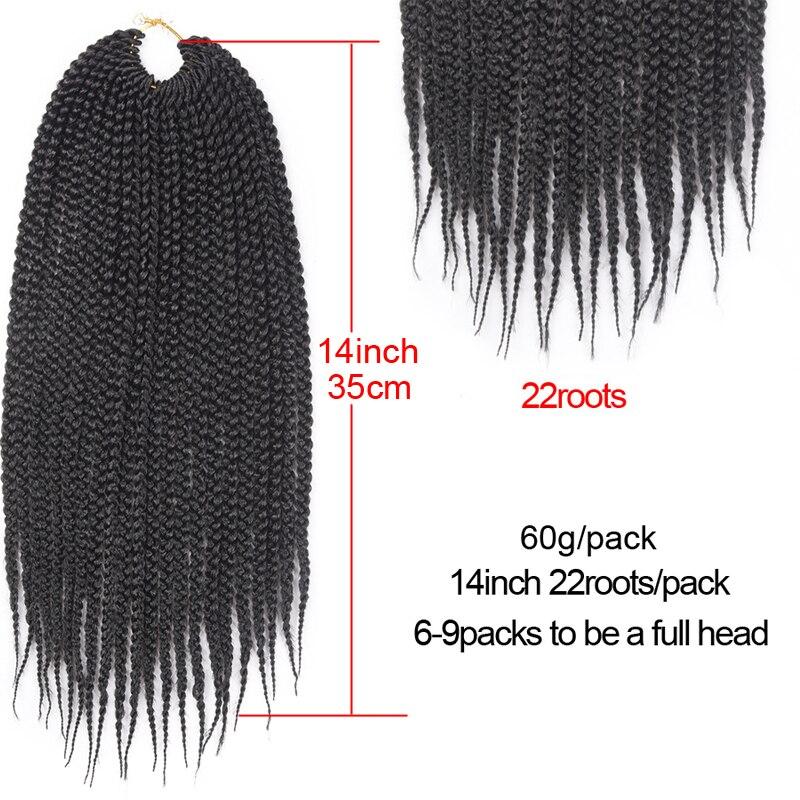 Refined Hair 14 18 22Inch Medium Crochet Box Braids Havana Mambo Twist 22Roots Box Braid Crochet Braiding Hair Extensions