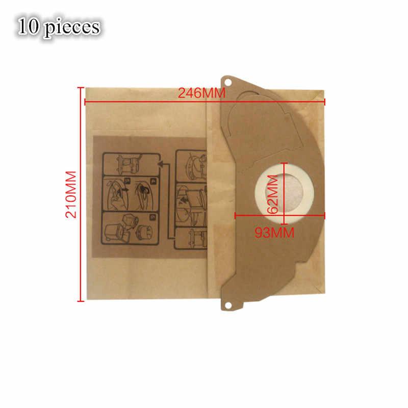 10 stks Stofzuiger Papieren Stofzak Filter Bag voor karcher SE 5.100, SE 6.100, 2501,2601, 3001, een 2120, NT 181 Pro, SE 2001, SE 3001