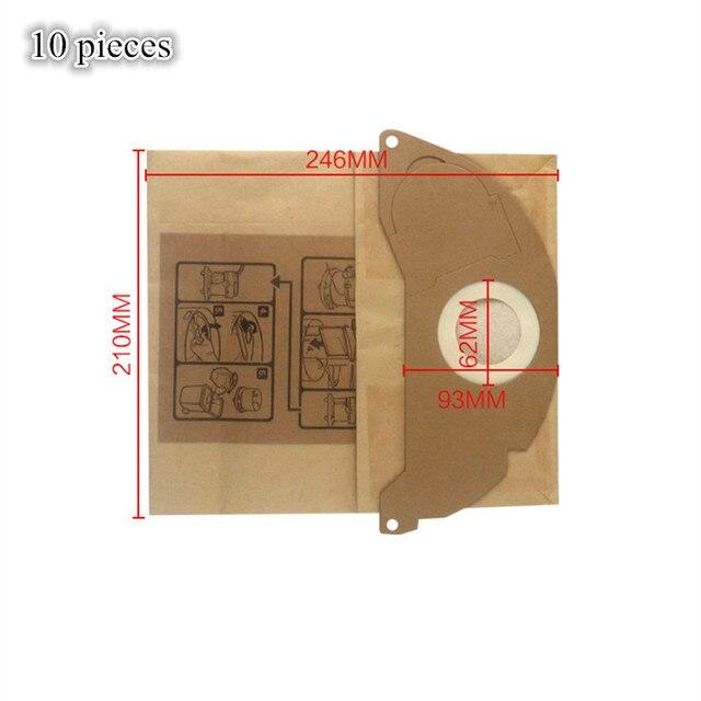 Karcher SE 5.100,SE 6.100,2501,2601,3001,A 2120,NT 181 Pro,SE 2001,SE 3001 용 10 pcs 진공 청소기 종이 먼지 봉투 필터 백