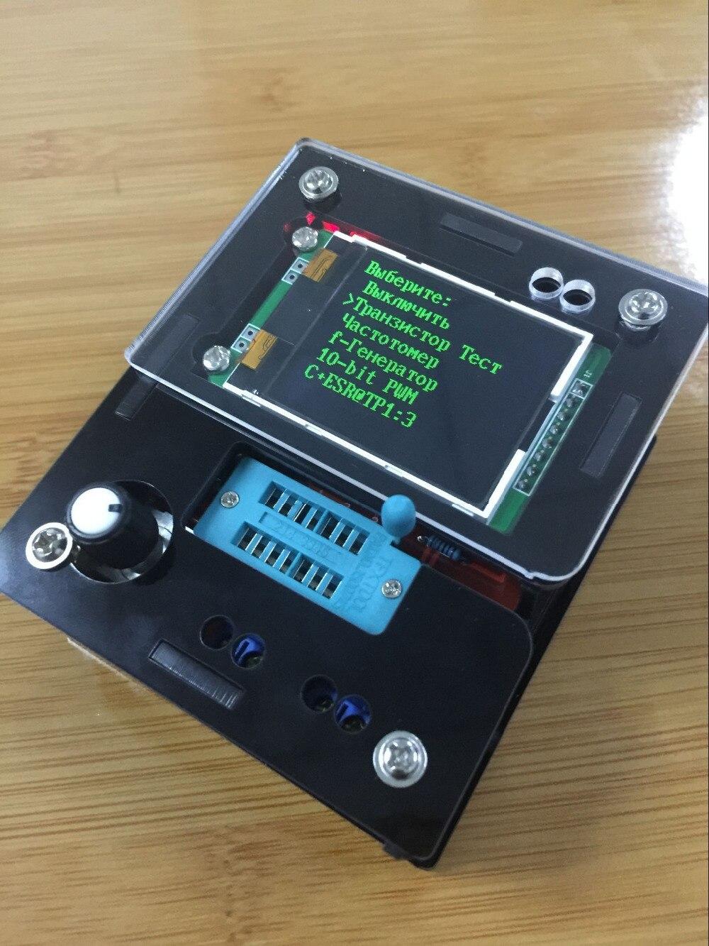 Russian DIY kits Transistor Tester LCR Diode Capacitance ESR Frequency meter Signal Generator DS18B20 DHT11 IR Test|tester lcr|test metercapacitance test - AliExpress