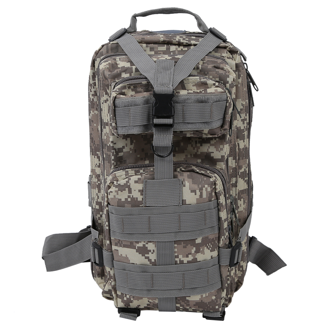 8 Pcs of (VSEN Hot 30L Military Army Rucksacks Molle Backpack Trekking Bag ACU Camouflage) vsen hot styleluggage bag replacement plastic 1 side rectangle buckle 10 pcs