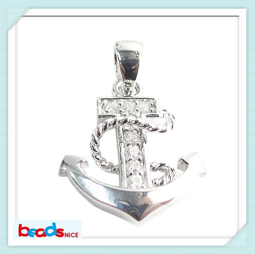 Beadsnice ID26208 925 Sterling Silver Fashion Anchor Pendant