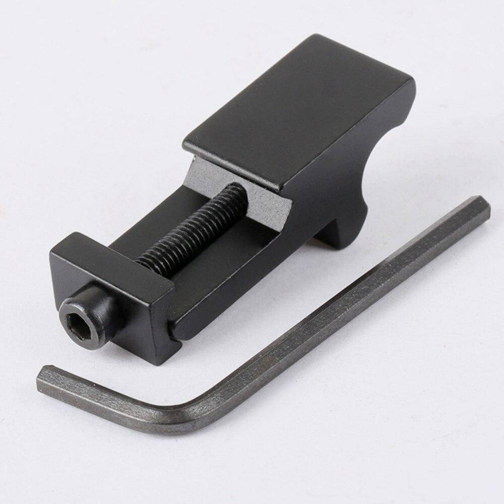 알루미늄 전술 측면 45도 각도 오프셋 사이드 레일 마운트 20mm 위버 피카 티니 레일 손 가드 사냥 광학 사이트 용