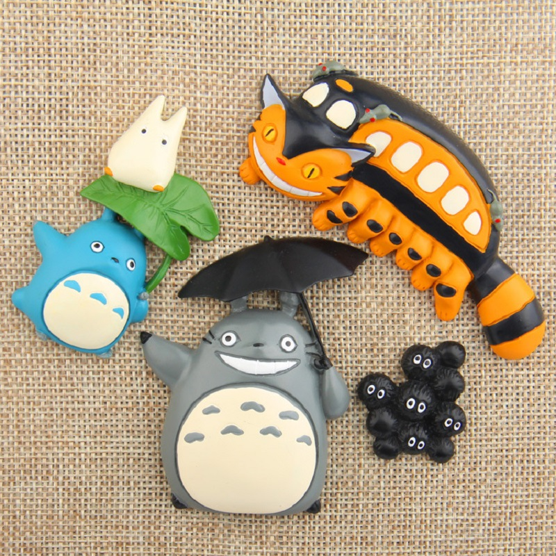 Toys & Hobbies 4pcs/lot Studio Ghibli Miyazaki Hayao My Neighbor Fairy Dust Totoro Cat Bus Pvc Action Figure Collection Model Toy Fridge Magnet To Adopt Advanced Technology