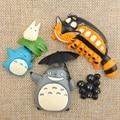 4pcs/lot Studio Ghibli Miyazaki Hayao My Neighbor Fairy Dust Totoro Cat Bus PVC Action Figure Collection Model Toy Fridge Magnet