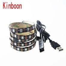 DC 5V USB LED strip 5050 RGB Flexible Light 50-500cm TV Background Lighting  LED strip RF Controller Waterproof /Non waterproof