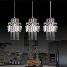 Modern crystal pendant lamp lighting for Dining room 1 3 pcs Restaurant crystal hang pendant lamp