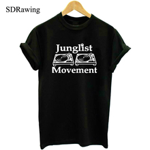 Junglist Movement T Shirts Men Drum and Bass Clubbing Turntables Decks Music DNB Man T-Shirt Cotton O Neck Mens tshirt Tops Tees