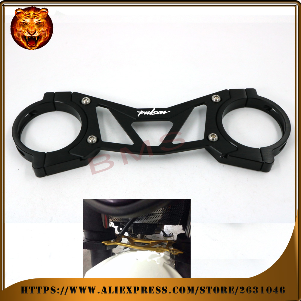 ФОТО Motorcycle Accessories Aluminum BAlANCE Foreshock FRONT FORK BRACE For Bajaj Pulsar 200NS 200RS 200AS 200 NS AS RS SHOCK bracket