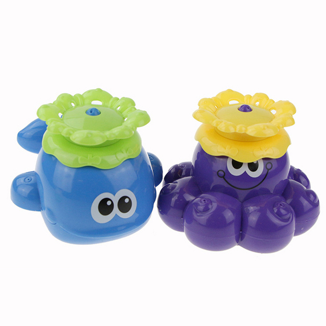 Brinquedos do bebê Brinquedos Do Banho Do Bebê Polvo Rotativo Automático de Extinção de incêndios E Baleia Brinquedos de Natação-BYC117 PT49
