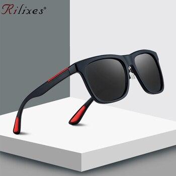 RILIXES 2019 NEW BRAND DESIGN Classic Sunglasses Men Women Driving Square Frame Sun Glasses Male Goggle UV400 Gafas De Sol LC7S