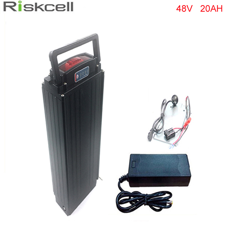 rear rack 48V 1000W electric bike battery 48v 20ah electric bicycle battery 48v 20ah lithium ion battery+ Power tail  lights powerful 48v electric bike battery pack li ion 48v 50ah 1000w batteries for electric scooter with use panasonic 18650 cell