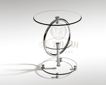 Toughened glass small tea table