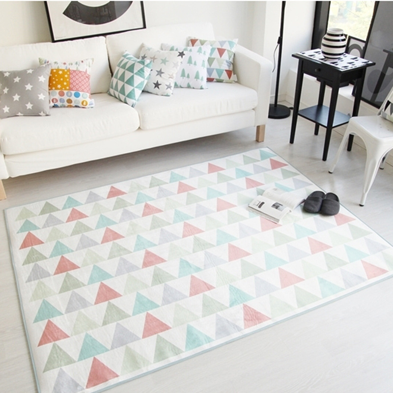 Simple Korean Style Rugs for Bedroom Rectangle Carpet Area Rug for ...