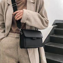 Youbroer The New Ins Fashion Trend for Spring Is A Retro One Shoulder Crossbody Bags Wide Shoulder Strap and Small Square Bag
