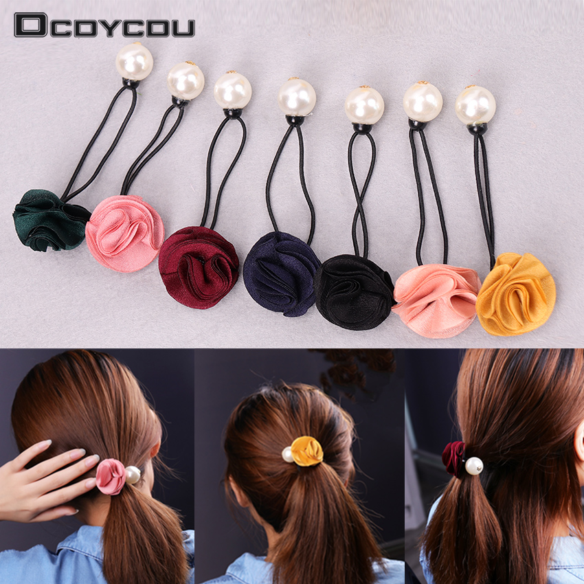 Careful 10 Pcs Colorful Women Elastic Cloth Hair Bands Hair Tie Ring Rope Girls Ponytail Holder Headwear Accessories Hair Styling Tools Braiders