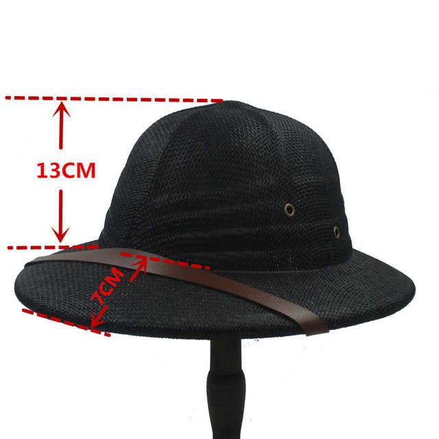 placeholder 100% Bucket Chapéus Para Mulheres Homens Fedora Palha Capacete  Pith Vietnam guerra Do Exército Chapéu f4c4fe0a95b