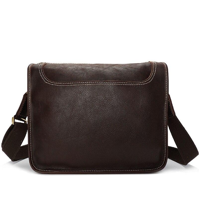 Vintage Style Men's Genuine Leather Crossbody Shoulder Bag Business Briefcase Portfolio Handbag For Man Male YD8098