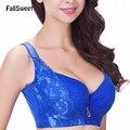 FallSweet Sexy sujetador de las mujeres, más el tamaño D E taza empuja hacia arriba el sujetador, sujetador de la ropa interior de ajuste lateral 85 90 95 100 105