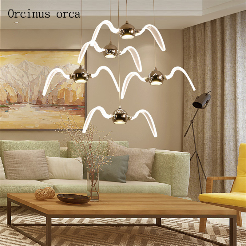 Nordic creative gulls chandelier living room restaurant bar corridor modern minimalist LED bird Chandelier free shipping|Pendant Lights| |  - title=