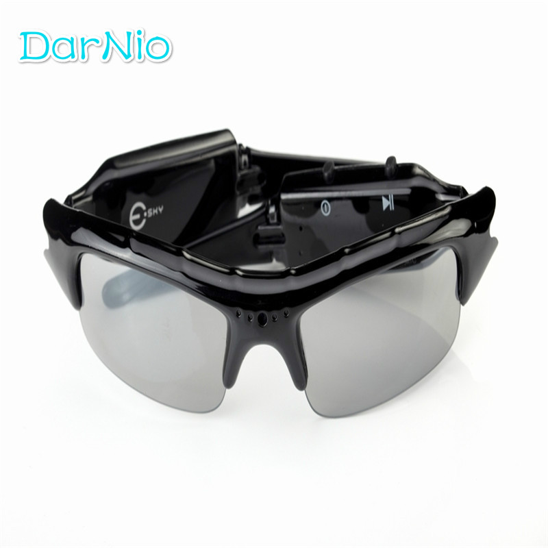 New Arrival Hot Sale Digital Audio Video Mini Camera DVR Sunglasses Sport Camcorder Recorder Cam For Driving Outdoor Free Ship