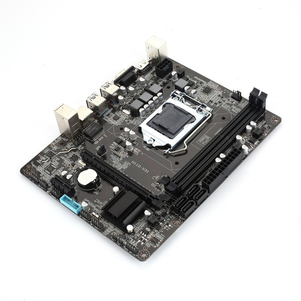 Newest H110 V31 DDR3 LGA1151 Motherboard Desktop PC Board Mainboard 16GB MAX for Core i3,i5,i7 CPU mATX with LAN Controller motherboard core i7 i5 i3 h110 sata mainboard pci express micro atx retail motherboard chipset sata 6gb s connectors lga1151