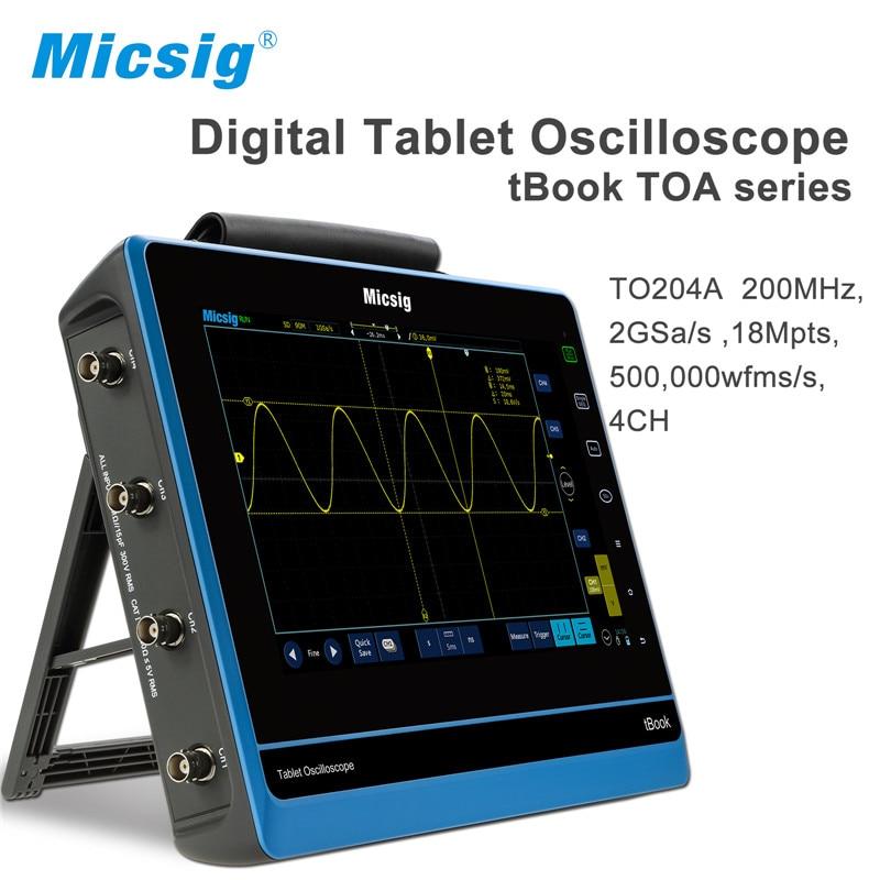 Micsig digital oscilloscope virtual 100 MHz 150 MHz 200 MHz Oscilloscope-for-sale touchscreen oscilloscopes portable pocket