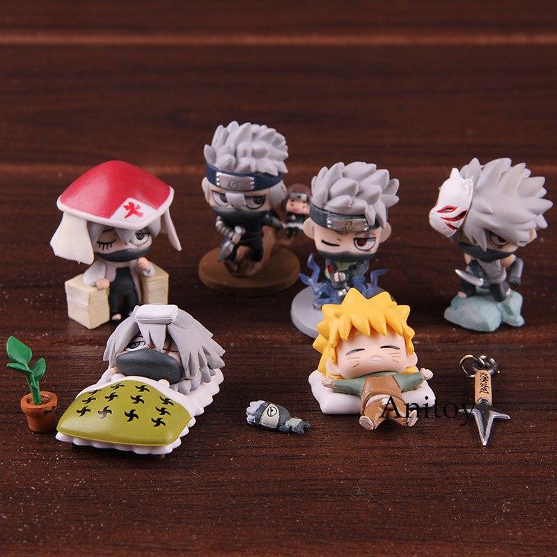 6Pcs//set Toy Naruto Shippuden Petit Chara Land The Last  Figure Figurine Gift