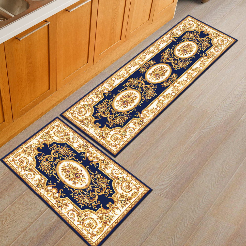 Europe Palace Flower Kitchen Rug Home Entrance Hallway