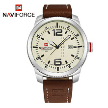Naviforce Genuine Leather Man Watch 2016 Quartz Watch Men Relogio Masculino Clock Men's Wristwatch Montre Homme relojes hombre