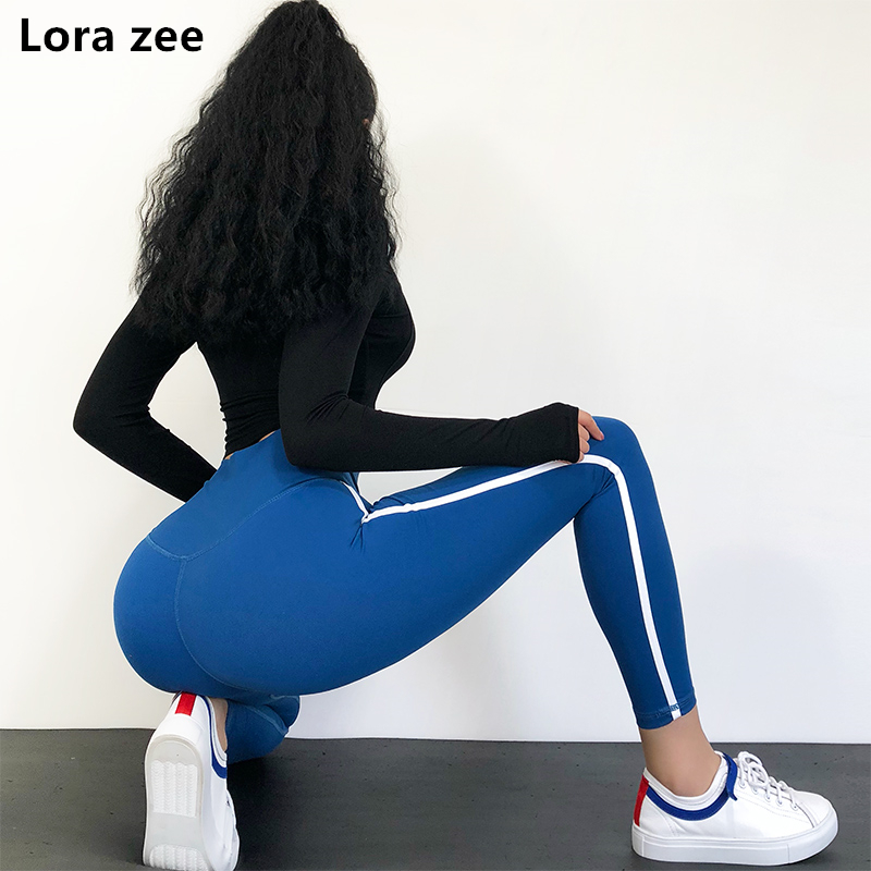 Booty push up blue sport legging high waist red yoga pants super sexy calf workout gym leggings black fitness clothing- 3 colors