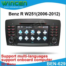 7″ Car DVD Player for BENZ R W251(2006-2012) with 3D Menu multi-languages onboard computer Free Shipping & Map