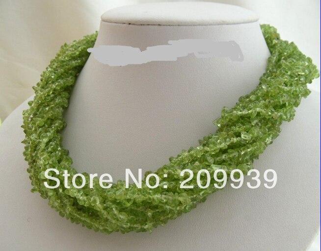 Livraison gratuite>>> @ AS3487 WOW classic collier péridot 12 brins vert naturel - 2