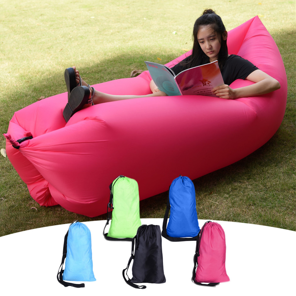 New Design Europe portable outdoor inflatable sofa lazy inflatable Fast Lazy Bag Sleeping Inflatable Sofa <font><b>Bed</b></font> Camping Hiking <font><b>Bed</b></font>