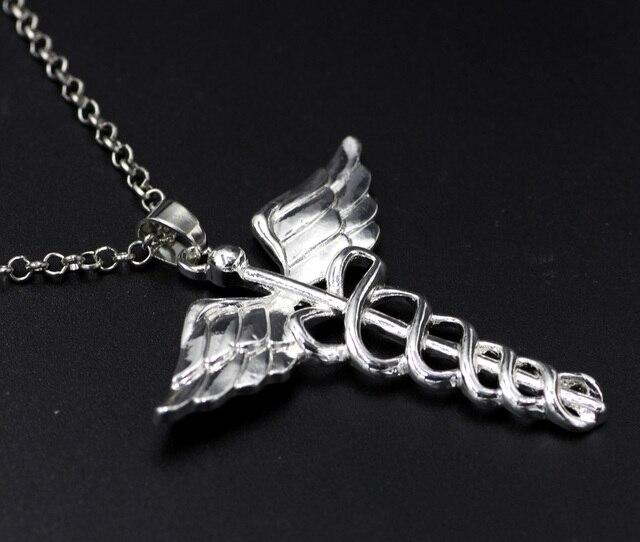 Caduceus Angle Doctor Nurse Medical Symbol Jewelry Snake Wings