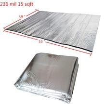 """236 mil 15 sqft звукоизоляционный коврик для автомобильных стеновых звукоизоляционных панелей 5"""" x 39"""""""