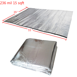 236 mil 15 sqft Sound Deadening Insulation Mat Automotive Deadener Wall Soundproofing Foam Panels 55