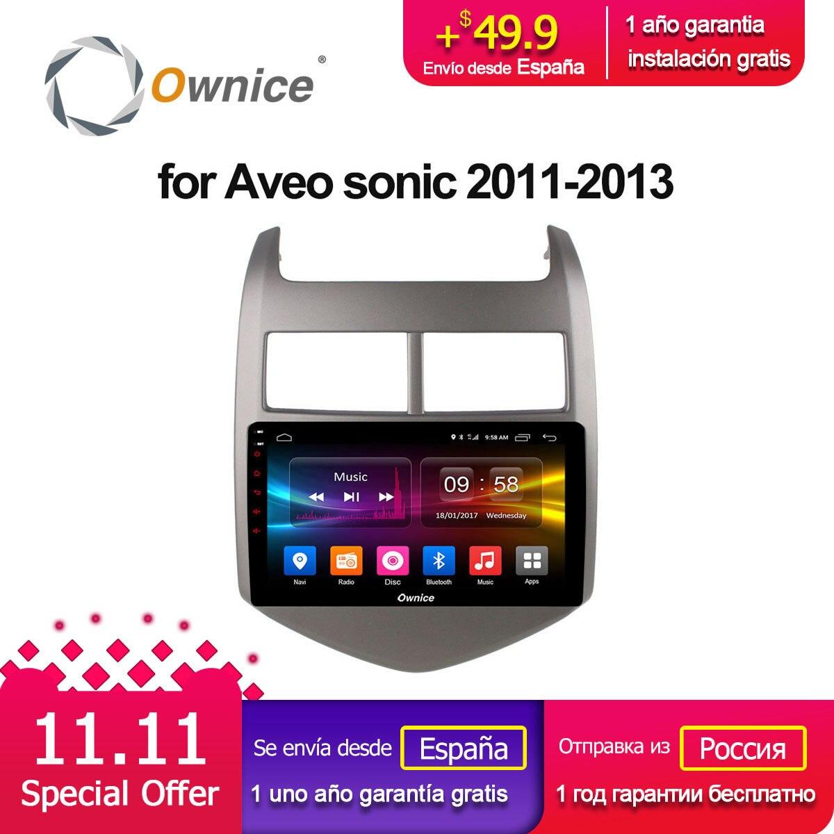Ownice C500 + G10 Android 8.1 VOITURE Audio lecteur DVD POUR Cheverolet aveo SONIC 2011-2013 gps Multimédia tête dispositif unité récepteur
