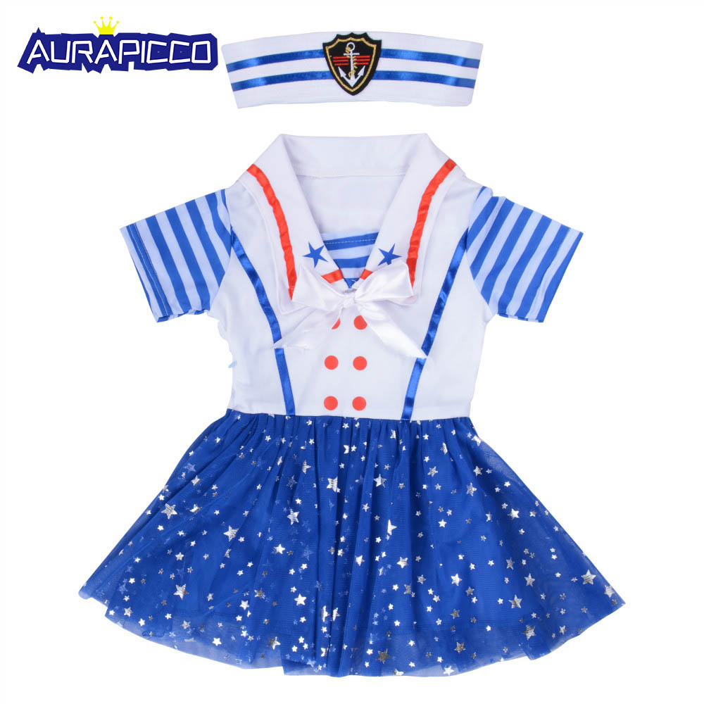 0a573f4ae9141 Child Sailor Girl Costume Sweetheart Sailor Costume Dress Uniform Nautical  Navy Fancy Dress Halloween Costumes For