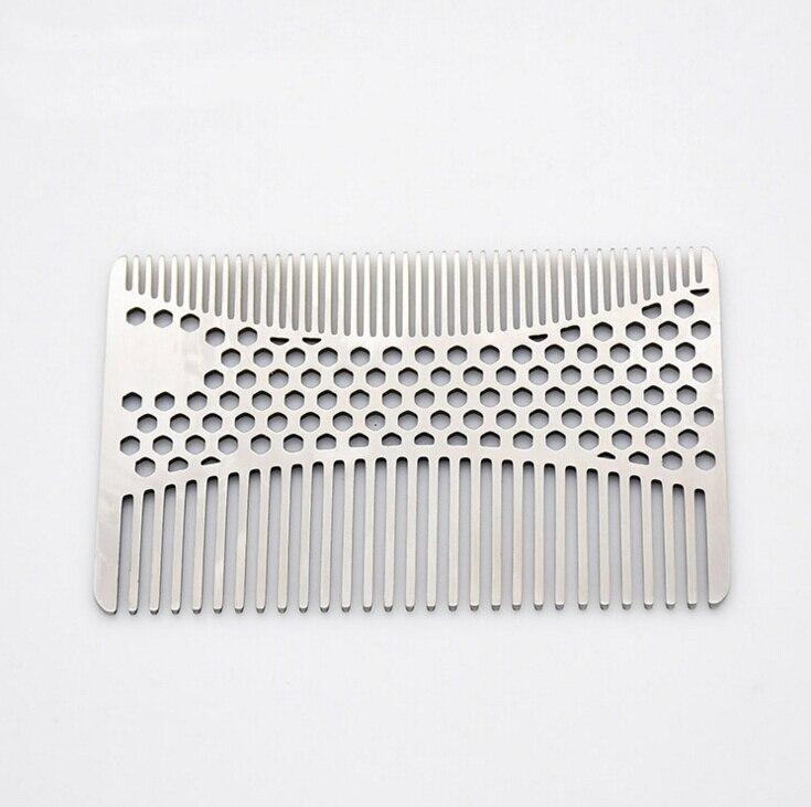 Stainless Steel Mustache Comb Beard Comb for Men's Shaving Male's Mustache Pocket Brush Facial Hair Brush Bottle Opener 1