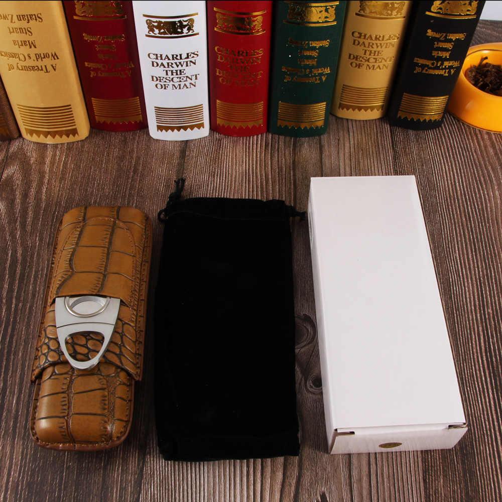 GALINER из натуральной кожи Humidor сигар чехол для сигар резак портативный дорожный увлажнитель для сигар мини гаджеты для Cohiba
