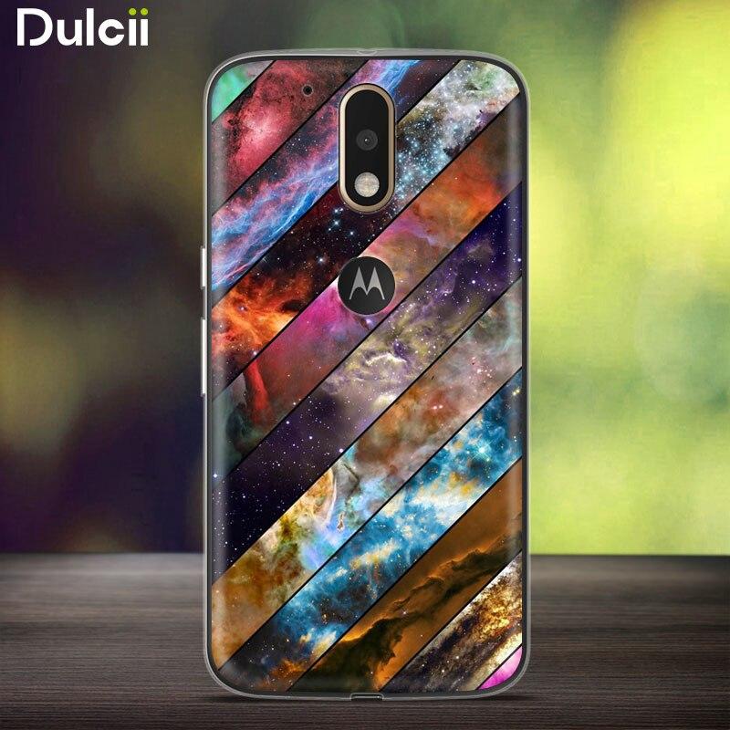 Dulcii For Motorola Moto G4 / G4 Plus Patterned TPU Embossment Cellphone Case – 5.5 inch