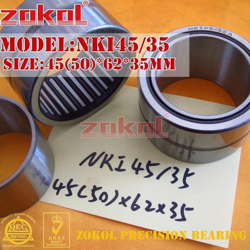 ZOKOL bearing NKI45/35 Entity ferrule needle roller bearing 45(50)*62*35mm na4822 heavy duty needle roller bearing entity needle bearing with inner ring size 110 140 30mm