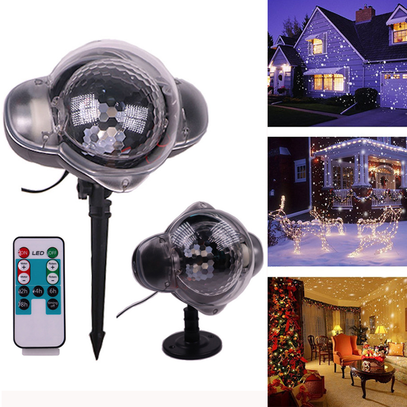 Waterproof Christmas Lawn Lamp Holiday Lights Snowflake LED Garden Light Xmas Home New Year Party Wedding Decoration Lighting