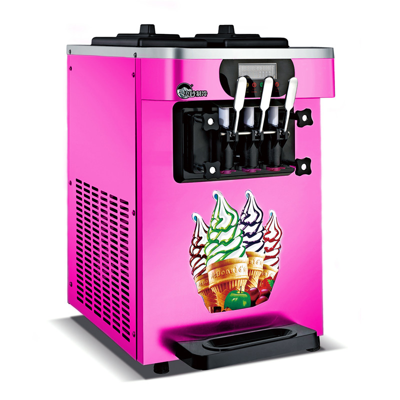 Commercial soft serve Ice cream machine electric 18L/H3 R410 flavors sweet cone ice cream maker 110V/220V 1600WCommercial soft serve Ice cream machine electric 18L/H3 R410 flavors sweet cone ice cream maker 110V/220V 1600W