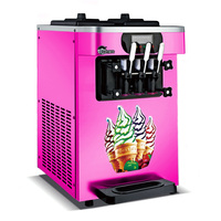 Commercial soft serve Ice cream machine electric 18L/H3 R410 flavors sweet cone ice cream maker 110V/220V 1600W