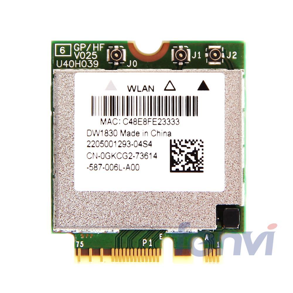 BCM943602BAED DW1830 sans fil-AC BCM943602 NGFF M.2 1300Mbps WiFi Bluetooth BT4.1 réseau carte Wlan prise en charge mac os