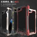 Mais novo amira case para iphone 5 5s fibra de carbono + metal + gorilla glass à prova de choque à prova d' água anti-impacto armadura com temperado vidro